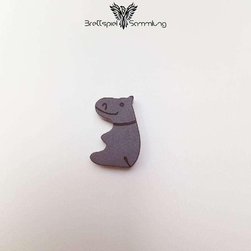 Das Nilpferd In Der Achterbahn Spielfigur Nilpferd Grau