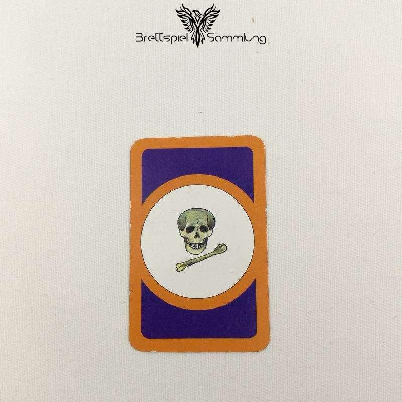 Das Verrückte Labyrinth Geheimniskarte Motiv Totenkopf