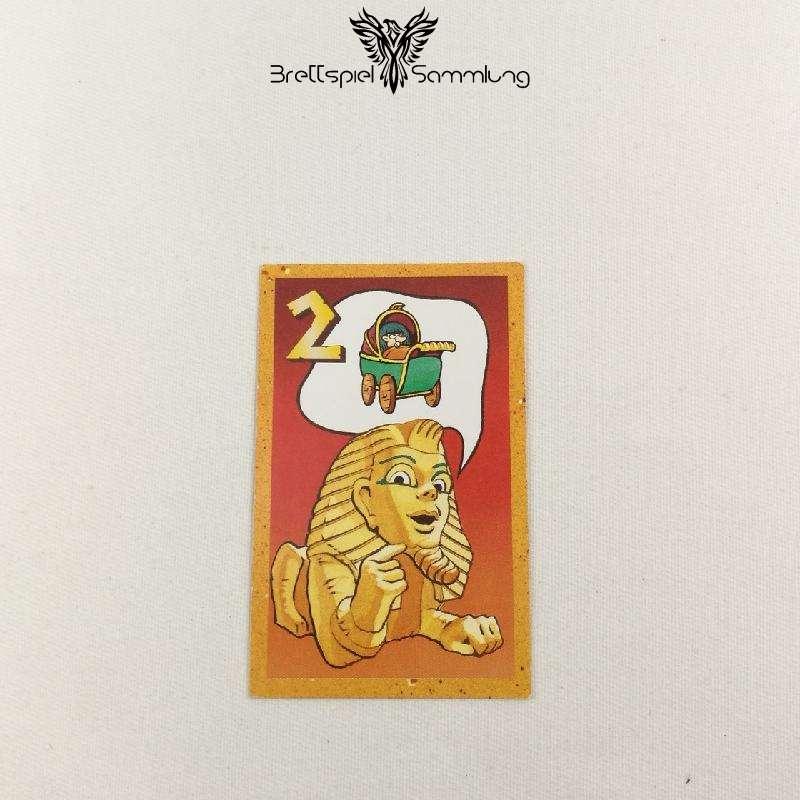 Der Zerstreute Pharao Suchkarte 2 Motiv Kinderwagen