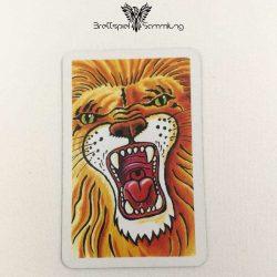 Feuerschlucker Spielkarte Löwe Leo