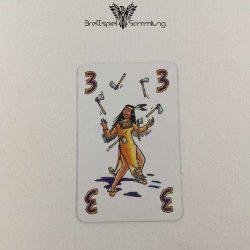 Feuerschlucker Spielkarte Jongleur