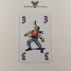 Feuerschlucker Spielkarte Messerschlucker