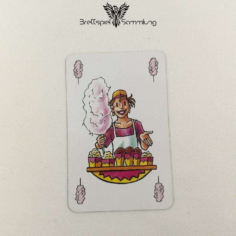 Feuerschlucker Spielkarte Zuckerwatten Lotte