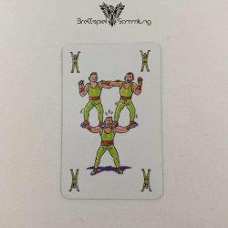 Feuerschlucker Spielkarte Menschliche Pyramide