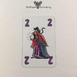 Feuerschlucker Spielkarte Wahrsagerin