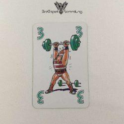Feuerschlucker Spielkarte Gewichtheber