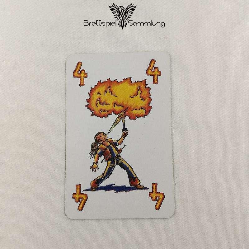 Feuerschlucker Spielkarte Feuerschlucker