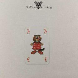 Mein Lieber Biber Laufkarte 3 Biber Rot
