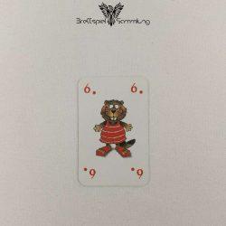 Mein Lieber Biber Laufkarte 6 Biber Rot