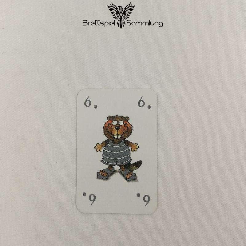 Mein Lieber Biber Laufkarte 6 Biber Grau