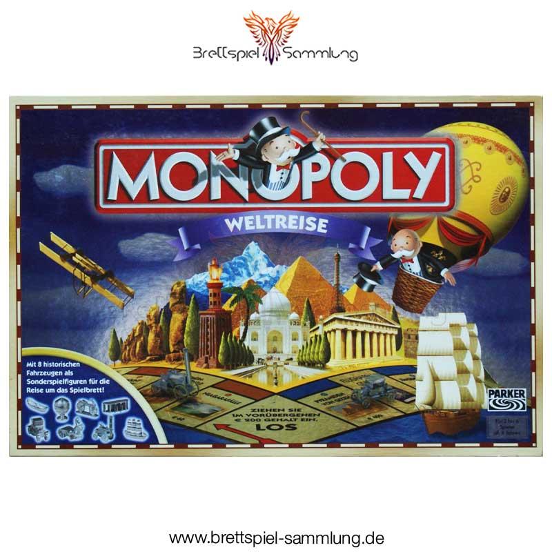 Brettspiel Sammlung Monopoly Weltreise Spiel