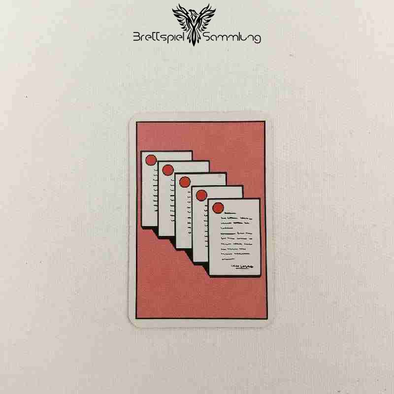 Top Secret Koffer Karte Rot 5 Staatsgeheimnisse