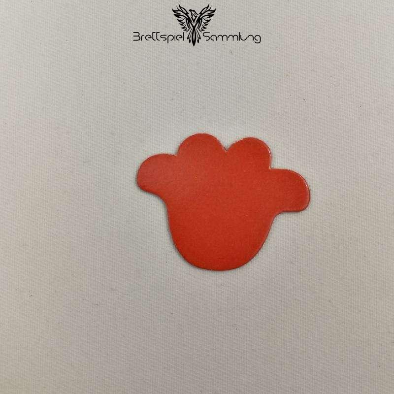 Vier Erste Spiele Plättchen Blüte Rot