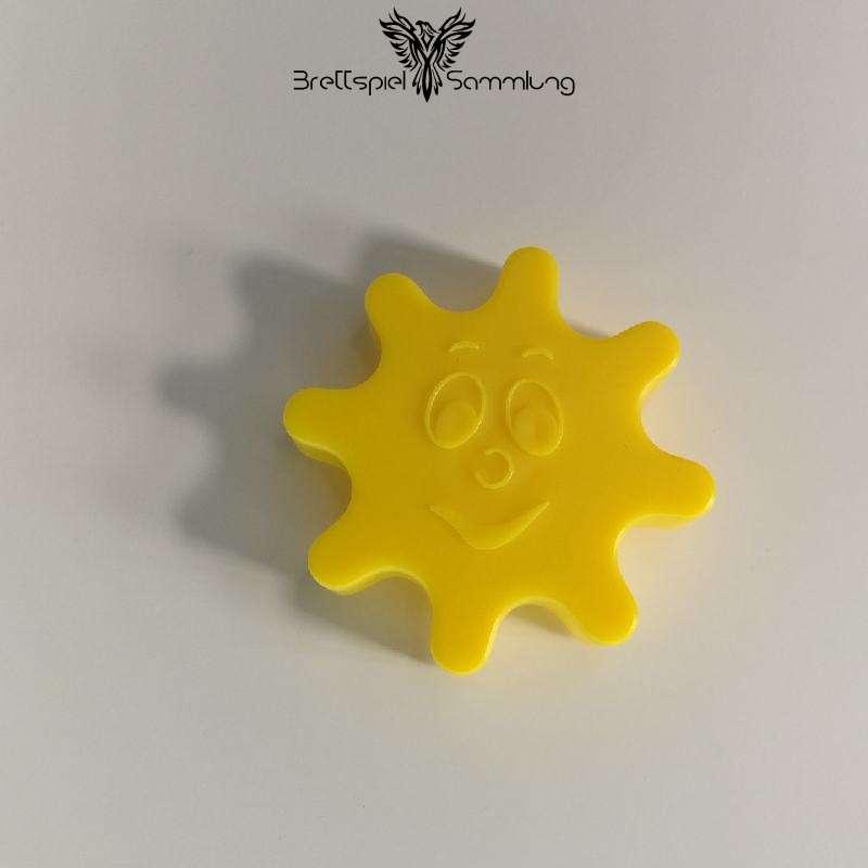 Chaos In Der Geisterbahn Zahnrad Mit Gesicht Gelb