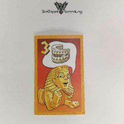 Der Zerstreute Pharao Suchkarte 3 Motiv Gebiss