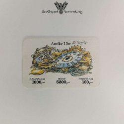 Ohne Moos Nix Los Geschäftskarte Antike Uhr