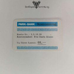 Ohne Moos Nix Los Ereigniskarte Park Bank Kontoauszug Motiv #1