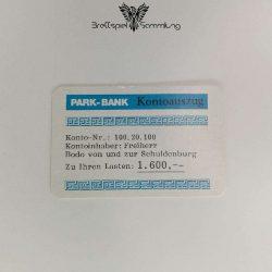 Ohne Moos Nix Los Ereigniskarte Park Bank Kontoauszug Motiv #2