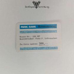Ohne Moos Nix Los Ereigniskarte Park Bank Kontoauszug Motiv #3