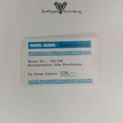 Ohne Moos Nix Los Ereigniskarte Park Bank Kontoauszug Motiv #5
