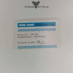 Ohne Moos Nix Los Ereigniskarte Park Bank Kontoauszug Motiv #7