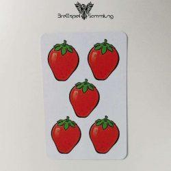 Halli Galli Spielkarte Erdbeere Motiv #5