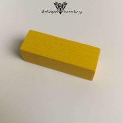 Make´n´break Mitbringspiel Holzbaustein Gelb