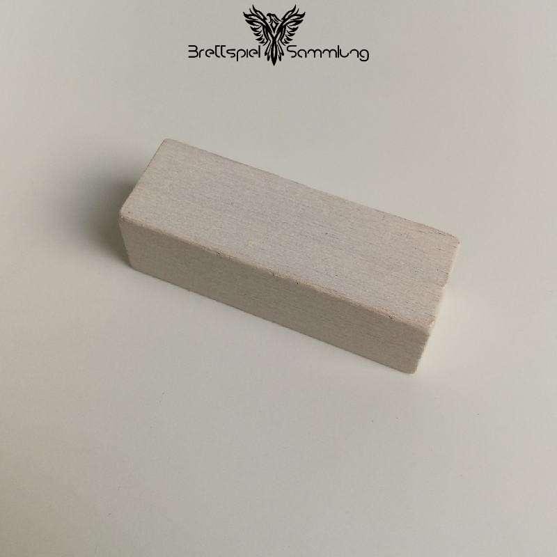 Make´n´break Mitbringspiel Holzbaustein Weiß