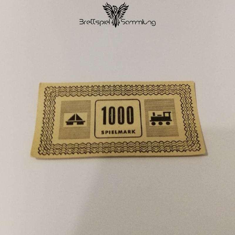 Monopoly Silber Edition Spielgeld 1000 Spielmark #1