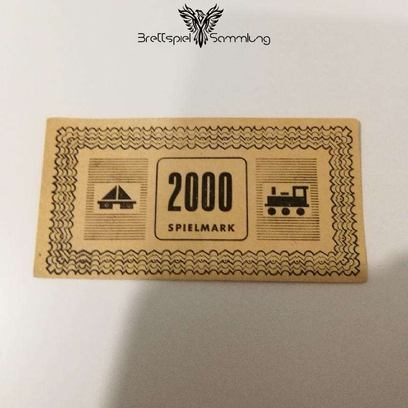 Monopoly Silber Edition Spielgeld 2000 Spielmark #1