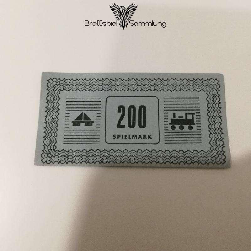 Monopoly Silber Edition Spielgeld 200 Spielmark #1