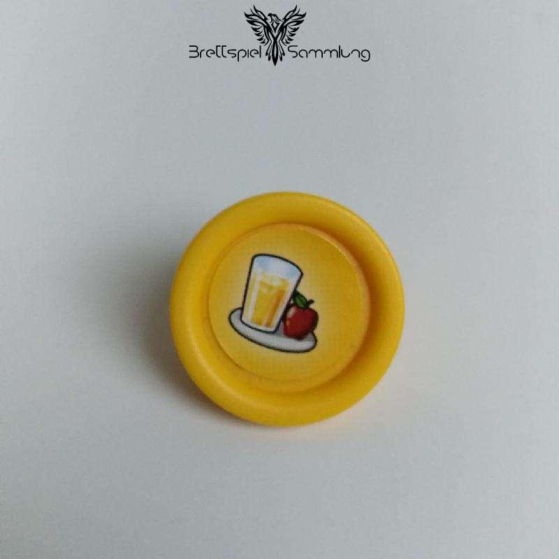 Cluedo Junior Gelber Sockel Apfelsaft