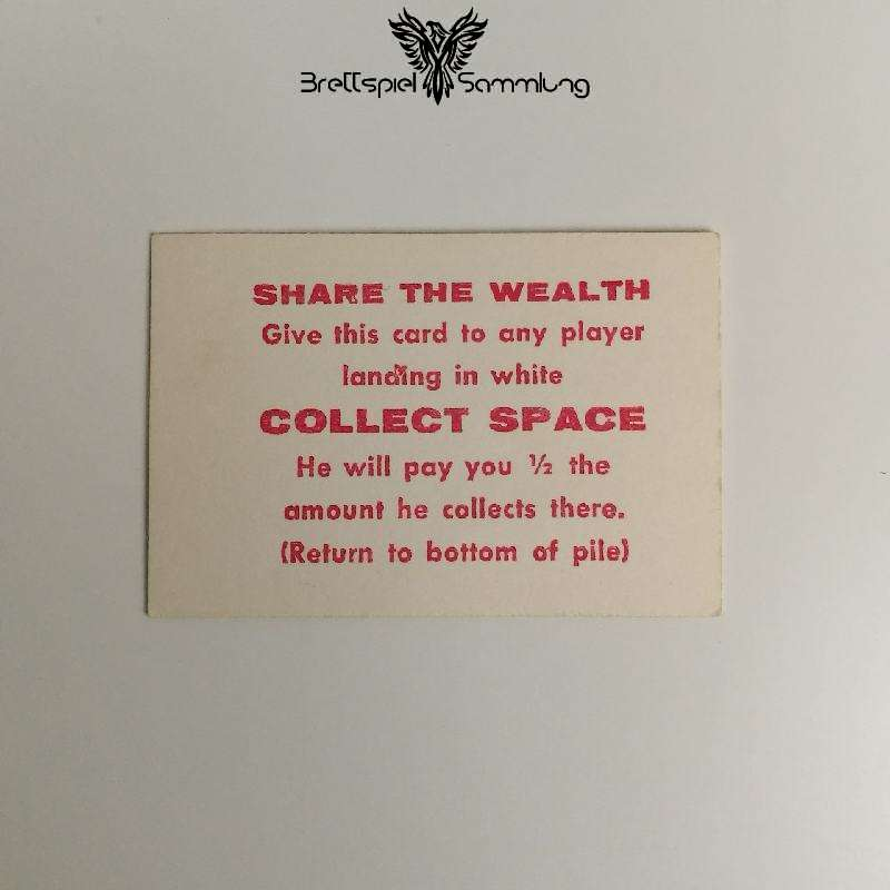 The Game Of Life Spielkarte Share The Wealth Collect Space
