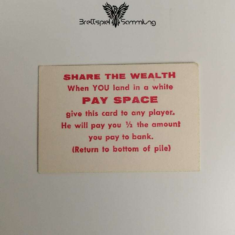 The Game Of Life Spielkarte Share The Wealth Pay Space