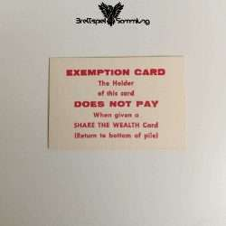 The Game Of Life Spielkarte Exemption Card Does Not Pay