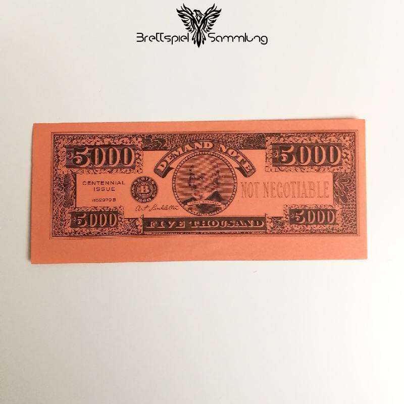 The Game Of Life Spielgeld 5000 Five Thousand Dollar