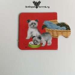 Tiere Und Ihre Kinder Kartenhälfte Welpe