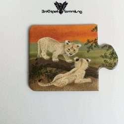 Tiere Und Ihre Kinder Kartenhälfte Löwenbaby
