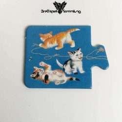 Tiere Und Ihre Kinder Kartenhälfte Kätzchen