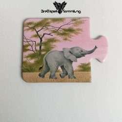 Tiere Und Ihre Kinder Kartenhälfte Elefantenbaby