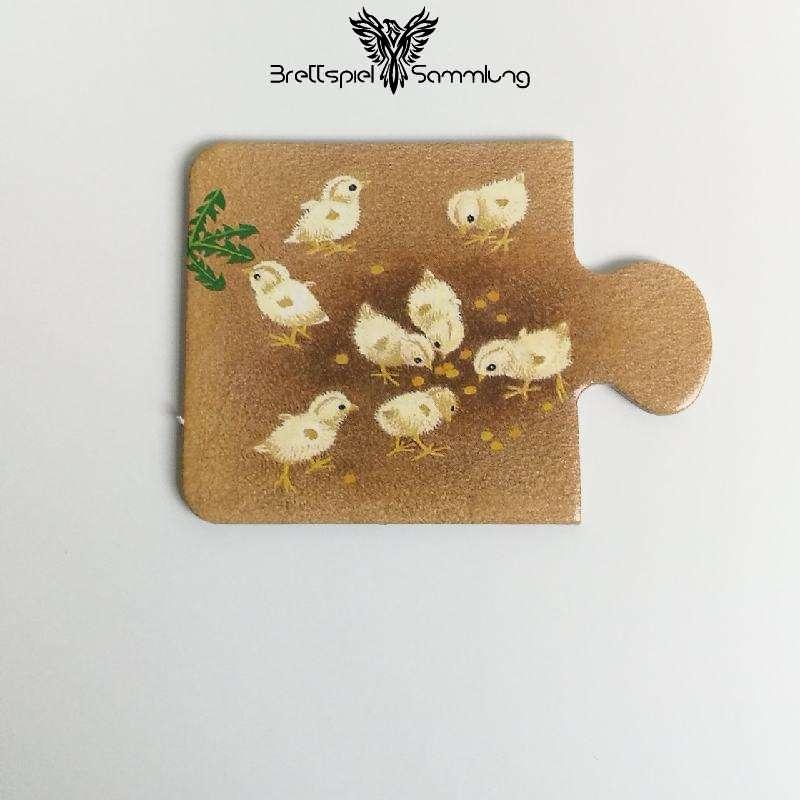 Tiere Und Ihre Kinder Kartenhälfte Küken