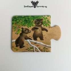 Tiere Und Ihre Kinder Kartenhälfte Bärenjunge