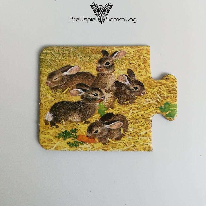 Tiere Und Ihre Kinder Kartenhälfte Kaninchenjunge