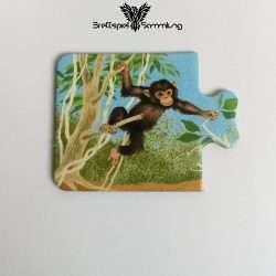 Tiere Und Ihre Kinder Kartenhälfte Affenbaby