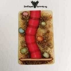 Streifen Toni Karte Wurmteil Rot #2
