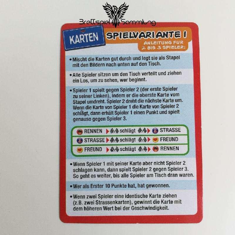 Cars 2 Kartenspiel Spielanleitung