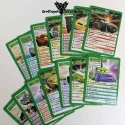 Cars 2 Kartenspiel Spielkarten Paket Grün
