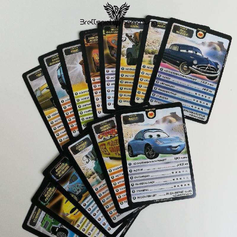 Cars 2 Kartenspiel Spielkarten Paket Schwarz