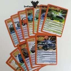 Cars 2 Kartenspiel Spielkarten Paket Orange