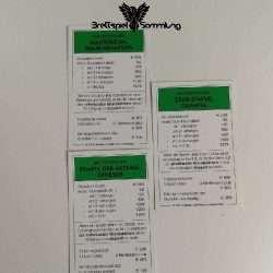 Monopoly Weltreise Besitzrechtkarten Grün